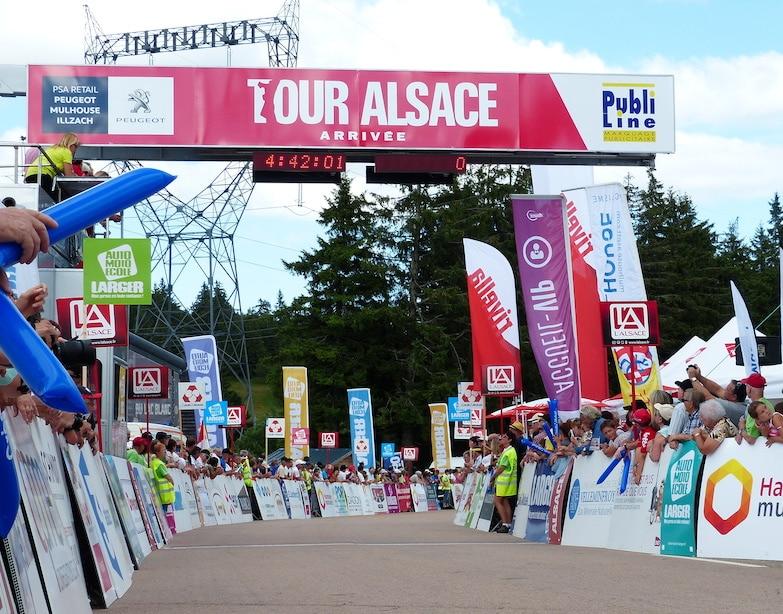 Tour Alsace - Ligne d'arrivée