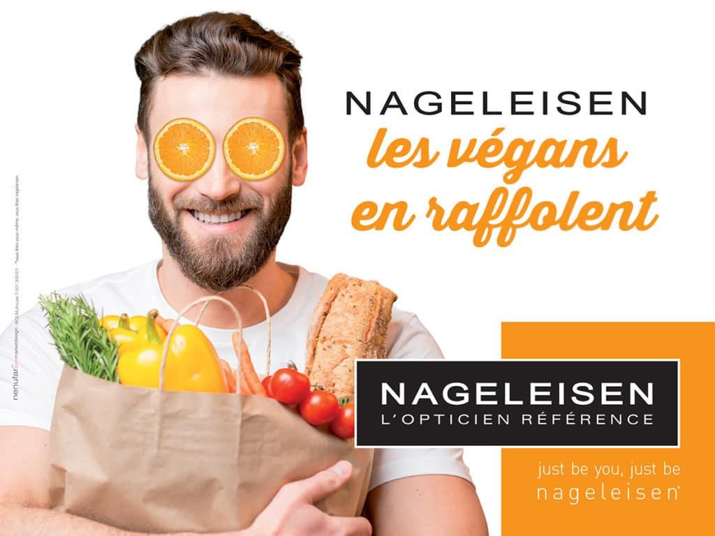 Publicité 2017 Optique Nageleisen - Les vegans en raffolent